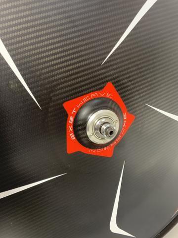 Speed Roda Pro Disc Tubular carbono - Foto 5