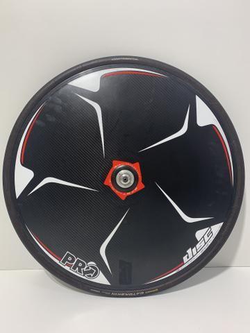 Speed Roda Pro Disc Tubular carbono - Foto 2