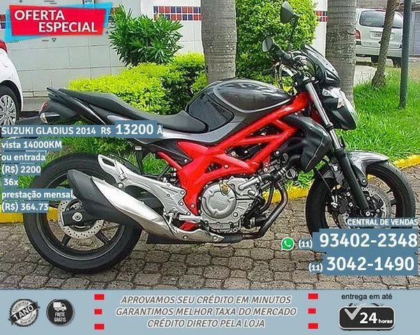 Suzuki Gladius Preta com Detalhes 2014 ABS R$ 13222 14044 KM