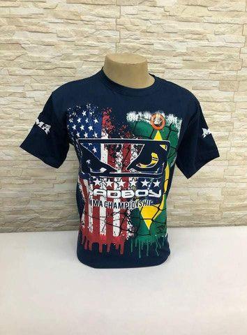 Camisas Originais MMA_ JIU JITSU_ MUAYTHAI_UFC _ PRETORIAN_ VENUM_ JUSTICEIRO_ BLACK SKULL - Foto 4