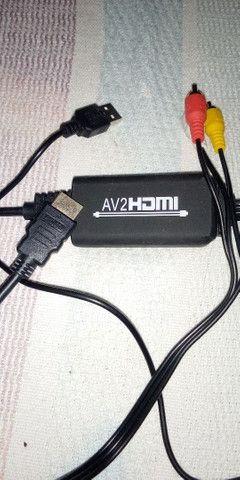 Cabo conversor RCA  AV para HDMI 1080P NOVO