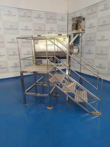 Misturador Horizontal de Pós Ribbon BLender 500 litros/kg Industrial  - Foto 5