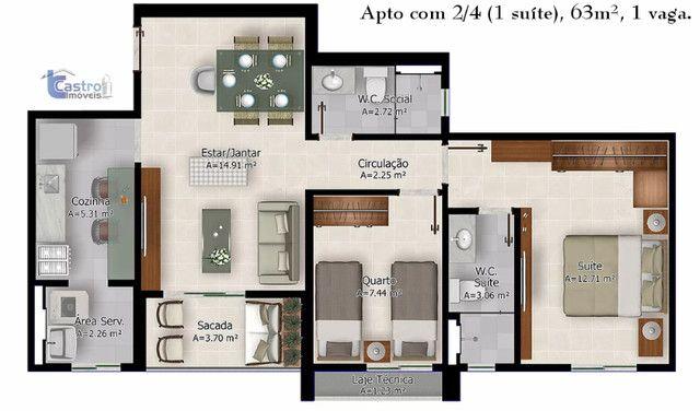 Bossa Nova Residence. 3/4.1 Suíte. 1 Vaga. Nascente. (Reve. 20) - Foto 15