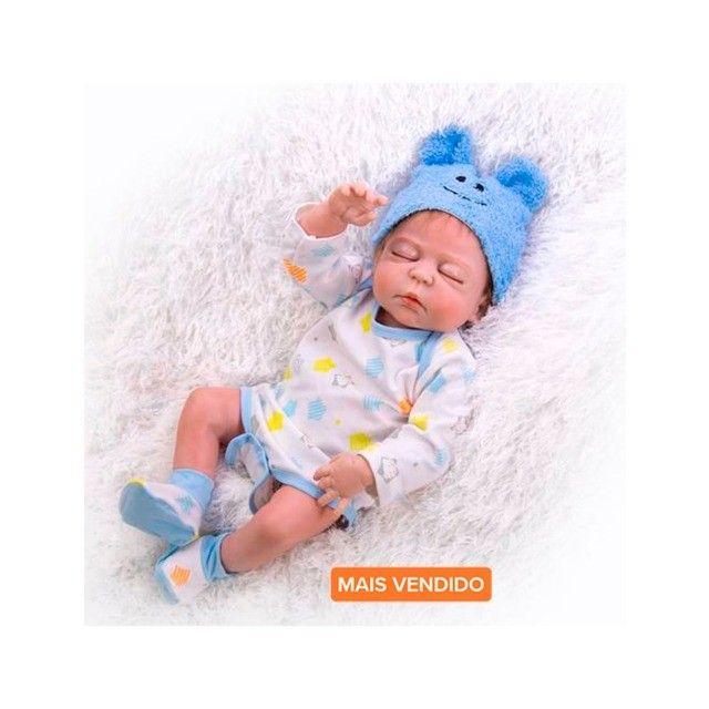 Bebês Reborn 100% silicone realista em promoção - Outros modelos a pronta entrega - Foto 6