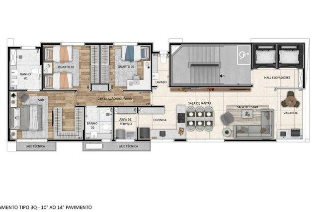 Apartamento à venda com 3 dormitórios em Santo agostinho, Belo horizonte cod:277328 - Foto 11