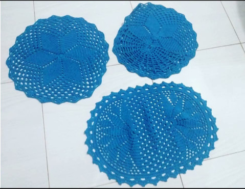 Tapetes de crochê para banheiro - Foto 4
