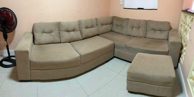 """Sofá em """"L"""" Seminovo, 1 ano de uso. R$ 1.500,00"""