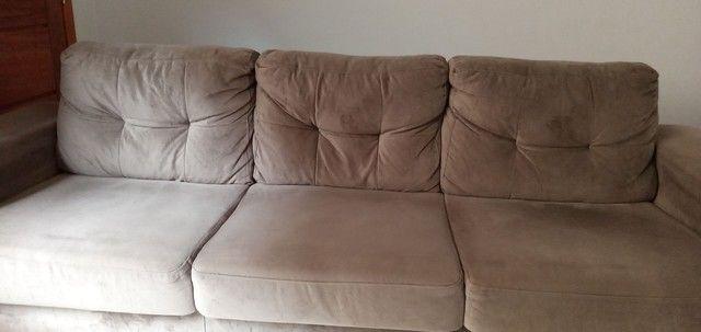 Sofá tecido suede aveludado 2,60 m - Foto 2