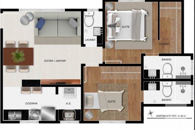 Apartamento à venda com 2 dormitórios em Santa efigênia, Belo horizonte cod:271028 - Foto 2