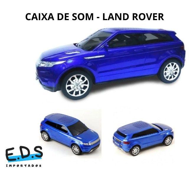 Caixa de Som Land Rover, Bluetooth, Rádio FM AM, USB, Recarregável, som potente!