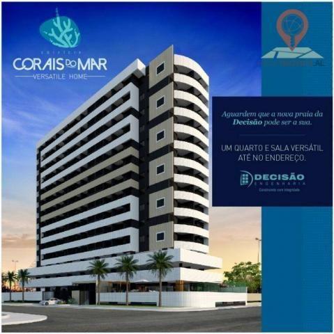 Apartamento com 1 dormitório à venda, 40 m² por R$ 240.000 - Jatiúca - Maceió/AL