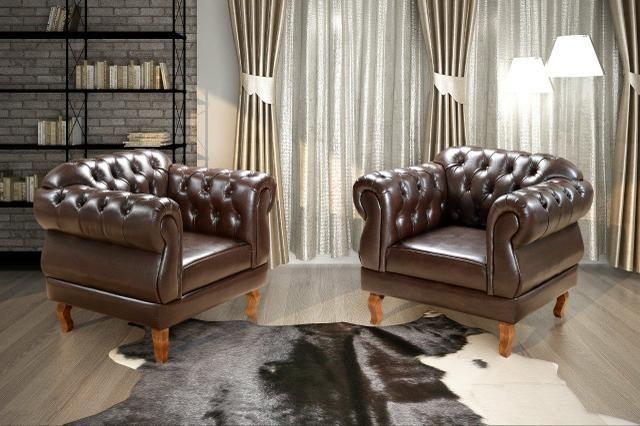 Conjunto Estofado Dom Pedro 2 poltronas 1 sofá de 2 lugares - Foto 2