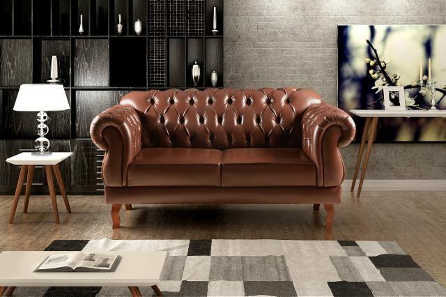 Conjunto Estofado Dom Pedro 2 poltronas 1 sofá de 2 lugares