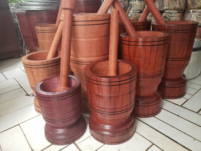 Madeira bruta pilão