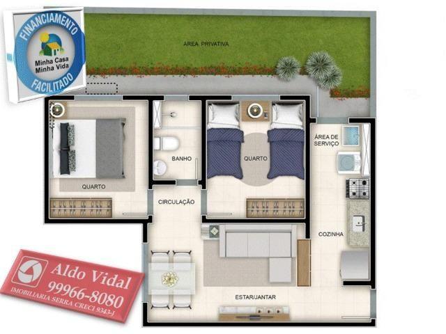 ARV51- Apartamento 2 Quartos Balneário de Carapebus a 900m da praia - Foto 15