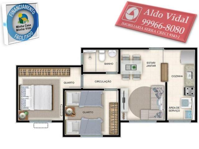 ARV55- Apartamento 01 Qrto P.N.E + E.L.E.V.A.D.O.R + Entrada Facilitada. - Foto 6