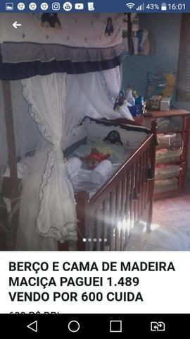 Urgente Berço que vira cama madeira maciça top baxei o preço - Foto 3