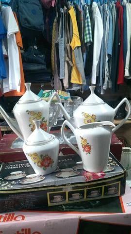 Jogo de chá e café porcelana pozzani