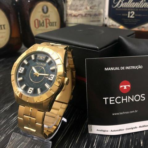 Relógio Technos Dourado A Partir De 299,00, Com Garantia de 12 Meses, Prova D'água, Origin