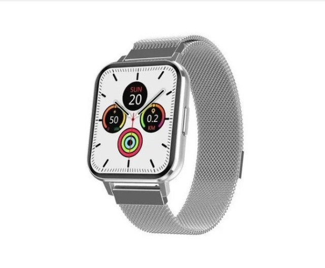 Relógio Inteligente smartwatch Dtx prata + Pulseira Milanesa Tela 1,78