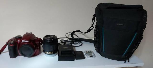 Câmera Nikon D3300 + Lente + Acessórios, troco por iphone 8 - Foto 2