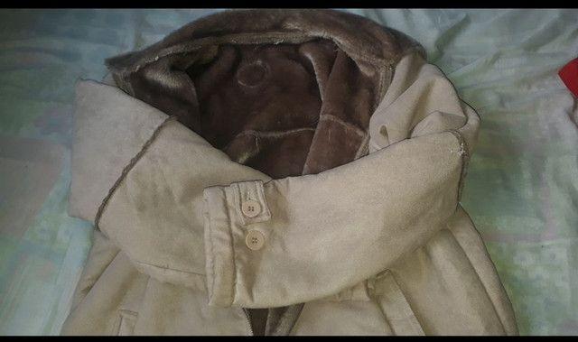 Jaqueta de camurça forrada  com  pele - Foto 2