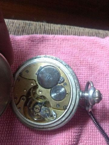 Relógio  bolso de Prata Zenith Grande Prix Paris 1900 - 3 tampas 15 rubis  - Foto 3