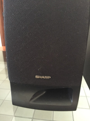Par De Caixas De Som Sharp Max Power 100 W Seminovas - Foto 4