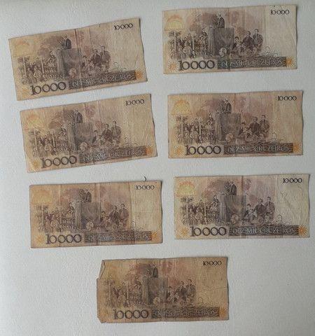 7 notas de 10000 cruzeiros antigas - Foto 2