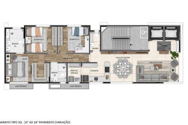Apartamento à venda com 3 dormitórios em Santo agostinho, Belo horizonte cod:277328 - Foto 12