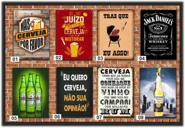 Quadros Decorativos ideal para: Cantinho do churrasco, Bares e Restaurantes e etc...