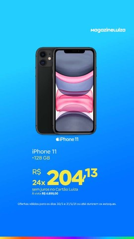Linhas de iPhone so no magalu - Foto 2
