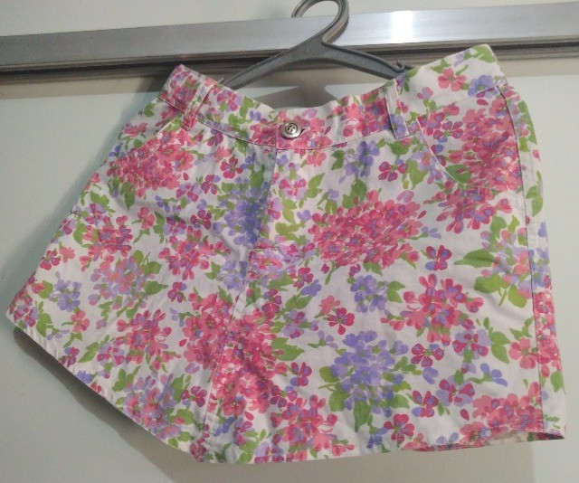 Mini Saia Floral Tamanho 16