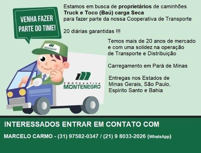 Fretes de Truck e Toco - baú carga Seca