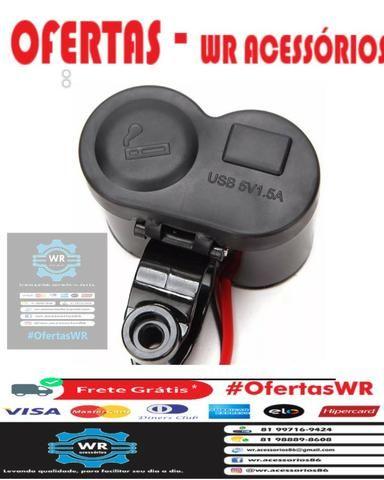 Carregador de celular para moto + entrega grátis - Foto 3