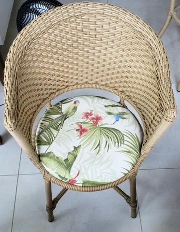 Conjunto cadeiras de varanda em vime - Foto 3