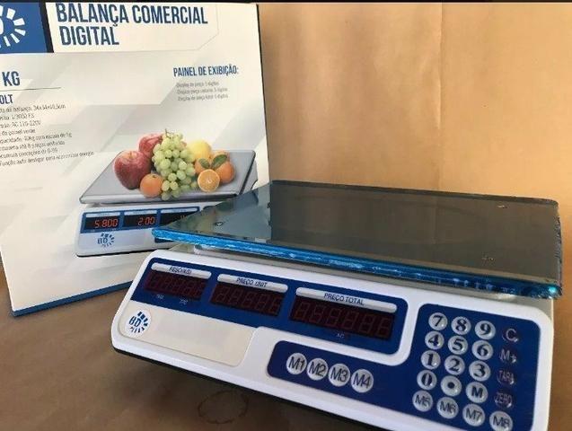 Balança Eletrônica Digital 40kg Visor Duplo Alta Precisão Completa (NOVA) ACEITA CARTÃO - Foto 4