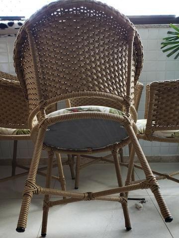 Conjunto cadeiras de varanda em vime - Foto 5