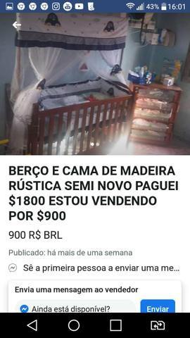 Urgente Berço que vira cama madeira maciça top baxei o preço - Foto 5