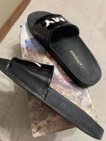 Venda chinelo slide preto