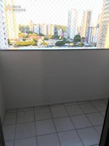 Apartamento com 2 dormitórios para alugar, 57 m² por R$ 1.600/mês - Tirol - Natal/RN - Foto 3