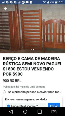 Urgente Berço que vira cama madeira maciça top baxei o preço - Foto 6