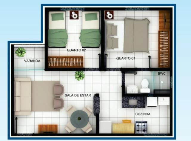 Passo chave apartamento Jardins 5 - Foto 2