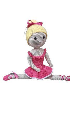 Boneca Amigurumi Crochê Com Vestido Branca De Neve - R$ 50,00 em ... | 480x270