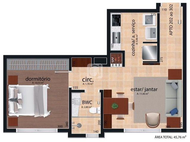 Apartamento à venda com 1 dormitórios em Nossa senhora medianeira, Santa maria cod:8582 - Foto 7