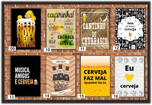 Quadros Decorativos ideal para: Cantinho do churrasco, Bares e Restaurantes e etc... - Foto 2