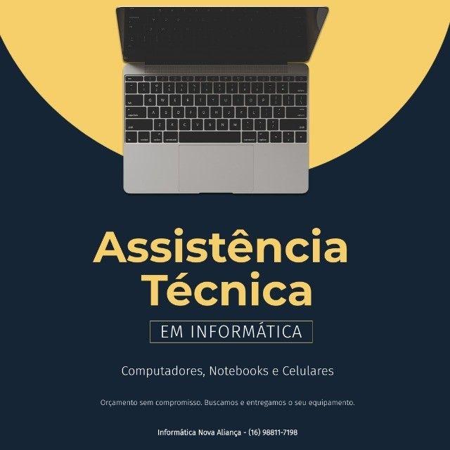 Assistência técnica especializada em computadores, notebooks e celulares