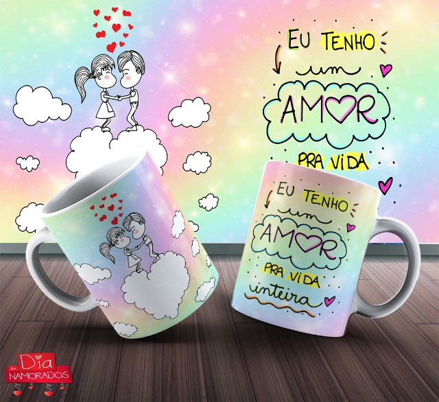 Canecas De Dia Dos Namorados Personalizada 325ml #. Gpdfn Bcqjw - Foto 3