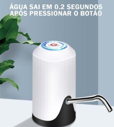 Bomba Elétrica De Galão Universal Com Carregamento USB Para Galão/Garrafão De Água - Foto 5