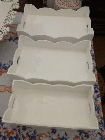 Conjunto de bandejas e base de bolo para festas - Foto 2
